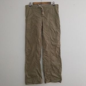 XCVI Wearables Stretch Linen Green Wide Leg Pants